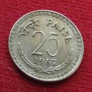 India 25 Paise 1987 B KM# 49.5 Inde - Inde