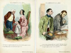 Illustrateur : GAVARNI - LES HUMORISTES DE JADIS - Le Lot De 2 Cartes - Illustrators & Photographers