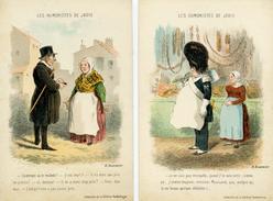 Illustrateur : Daumier - LES HUMORISTES DE JADIS - Le Lot De 2 Cartes - Illustrators & Photographers