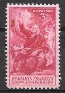 1956 3 Cents Benjamin Franklin, Mint Never Hinged - Verenigde Staten