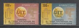 PAIRE NEUVE DE GUINEE - CENTENAIRE DE L'UNION INTERNATIONALE DES TELECOMMUNICATIONS N° Y&T PA 54/55 - Télécom