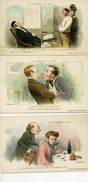 Illustrateur : Daumier - LES HUMORISTES DE JADIS - Le Lot De 3 Cartes - Illustrators & Photographers