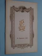 19 Septembre 1922 - Mariage De Laurent Louisa Dijkmans Jammar ( 49 Rue De La Justice / Zie Foto Voor Details ) !! - Menus