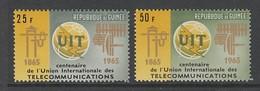 PAIRE NEUVE DE GUINEE - CENTENAIRE DE L'UNION INTERNATIONALE DES TELECOMMUNICATIONS N° Y&T 242/243 - Télécom