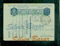 FRANCHIGIE-CARTOLINA POSTALE IN FRANCHIGIA-N.12/13-POSTA MILITARE N141- BOLLI CENSURA-PER PARMA - Guerra 1939-45