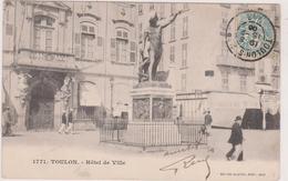 83,CARTE POSTALE ANCIENNE,TOULON,1900,BAR,STATUE - Toulon