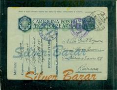 FRANCHIGIE-CARTOLINA POSTALE IN FRANCHIGIA-N.12/2-POSTA MILITARE N.97- BOLLI VARI-BTG MILANO-PER PARMA - Guerra 1939-45
