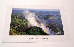 AFRICA ZAMBIA - PAESAGGIO VICTORIA FALLS CASCATE - VIAGGIATA CON FRANCOBOLLO - MASSIMA QUALITA' LUSSO - Zambia
