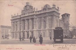 CPA  TORINO (Italie).  Palazzo Madama,  Tramway, Vélo. Pionnière ..E585 - Palazzo Madama