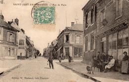CPA SAINT JUST EN CHAUSSEE - RUE DE PARIS - Saint Just En Chaussee