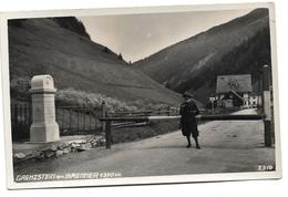 EARLY REAL PHOTOGRAPH POSTCARD, GRENZSTEIN AM BRENNER 1370M, AUSTRIA ALPS / SWITZERLAND - BORDER CROSSING - Österreich