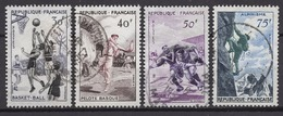 FRANCE 1956 - SERIE /  Y.T. N° 1072 A 1075  - 4 TP OBLITERES - Used Stamps