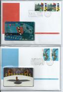 Complete Set Telebrieven 1 / 36 Ongebruikte Telefoonkaart + Zegel Phonecard On Letter (not Used) + Stamp Canceld - FDC