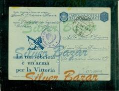 FRANCHIGIE-CARTOLINA POSTALE IN FRANCHIGIA-N.23/6-POSTA MILITARE N.97--BOLLI CENSURA-PER  PARMA - Guerra 1939-45