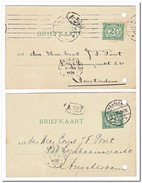 2 Briefkaarten 1908 Van Haarlem Naar Amsterdam ( Dyserinck's Olie ) - Periode 1891-1948 (Wilhelmina)