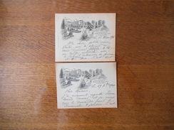 LA SOURCE 5 RUE DE LA SOURCE PARIS-AUTEUIL XVIe CARTES DES 29 Xbre 1909 ET 12 MARS 1916 - Cartes