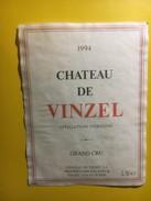 3612 - Suisse Vaud Château De Vinzel 1994 - Etiquettes