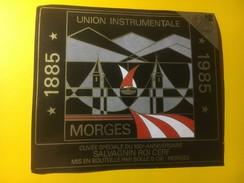 3614 - Suisse Vaud Union Instrumentale Morges 1885-1985 100e Cépage Salvagnin Roi Cerf - Musique