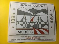 3615 - Suisse Vaud Union Instrumentale Morges 1885-1985 100e Luins Bravade - Musique