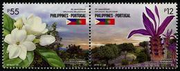 Philippines 2016 - Fleurs, 70e Ann Rélations Diplomatiques Avec Le Portugal, émission Conjointe - 2 Val Neufs // Mnh - Philippines