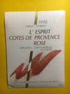 3621 - L'Esprit 1996 Côtes De Provence Rosé - Rosés