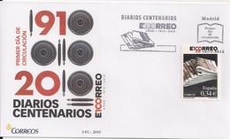 "2010 Spanien Mi. 4504 FDC   100 Jahre Tageszeitung ""El Correo"" - FDC"