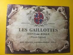 3634 - Suisse Vaud Les Gaillottes Pinot-Gamay Mont-sur-Rolle - Etiquettes
