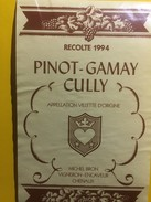 3636 - Suisse Vaud Pinot-Gamay 1994 Cully Michel Bron - Etiquettes