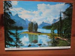 Canadian Rockies. Spirit Island On Maligne Lake - Alberta