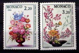 MONACO # 1491-1492.  International Flower Show.  MNH (**) - Monaco