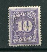 ETATS UNIS- Télégraphe Y&T N°55- Neuf Avec Charnière * - Telegraph Stamps