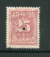 ETATS UNIS- Télégraphe Y&T N°58- Neuf Avec Charnière * - Telegraph Stamps