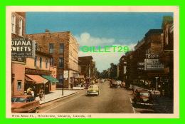 BROCKVILLE, ONTARIO - WEST MAIN STREET - ANIMATED OLD CARS - TRAVEL - PECO - - Brockville