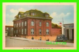 GLACE BAY, NOVA SCOTIA - THE TOWN HALL - GAZ STATION IRVING - CAPE BRETON - PECO - - Cape Breton