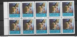 1969 MNH Canada Booklet Mi H-Bl 91 Postfris - Full Panes