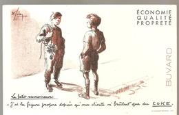 Buvard COKE Economie, Qualité, Propreté Le Petit Ramoneur J'ai La Figure Propre - Electricité & Gaz
