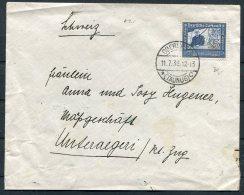 1938 Germany 25pf Graf Zeppelin, Frankfurt / Basel Bahnpost Cover - Switzerland - Briefe U. Dokumente