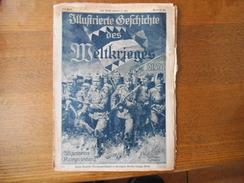 WUFTRIERTE GESCICHTE DES MELTKRIEGES 1914/17 144. ULLGEMEINE KRIEGSZEITUNG - Deutsch