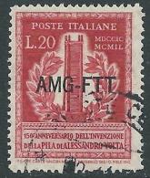 1949 TRIESTE A USATO VOLTA 20 LIRE - L7 - 7. Triest