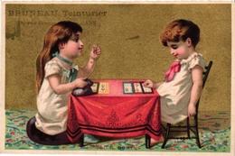 2 Cards C1900 Pub Peudefer Epernay Bruneau Mans  Loto Children Playing Loto - Jeux De Société