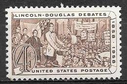 1958 4 Cents Lincoln-Douglas Mint Never Hinged - Verenigde Staten