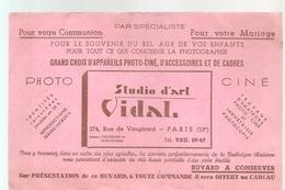 Buvard VIDAL Studio D'art VIDAL 274, Rue Vaugirard Paris 15 ème Photo Ciné - P