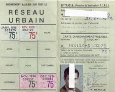 RESEAU URBAIN -Sté T.C.L. (Fermière Du Syndicat Des T.C.R.L.) 1975 N°118138 - Cartes