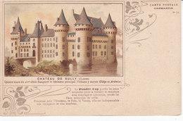 45 Loiret, Château De Sully, Litho, Pub Poudre Cap, Capmartin N 22, Vin - Sully Sur Loire