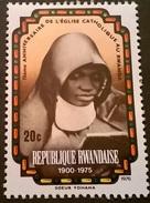 FRANCOBOLLO REP. RWANDAISE 1976 MNH** RARO ANNIVERSARY OF CATTOLICESIMO IN RUANDA - Rwanda