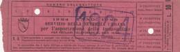 RICEVUTA SERVIZIO PER L'ASPORTAZIONE IMMONDIZIA ANNO 1924 SS -10 LIRE -ROMA (MA257 - Italia