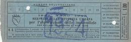 RICEVUTA SERVIZIO PER L'ASPORTAZIONE IMMONDIZIA ANNO 1924 SS -1 LIRE -ROMA (MA259 - Italia