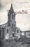 (43) Loudes - La Place De L' Eglise - Sortie De La Messe  - 2 SCANS - Loudes