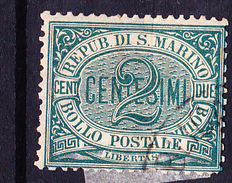 San Marino - Ziffer (MiNr: 1) 1877 - Gest Used Obl - Used Stamps