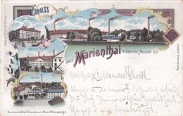 AK: NÖ: Gruss Aus Marienthal B. Gramatneusiedl Lithokarte 1904 !!! - Zonder Classificatie